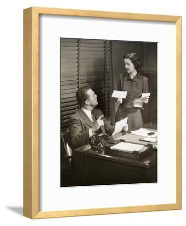 Boss and Secretary Talking