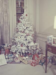 Christmas Tree and Gifts in Living Room by George Marks