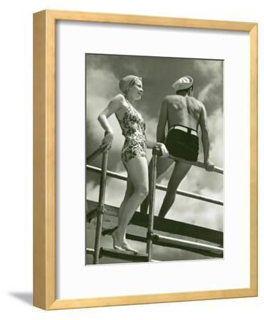 Couple on Diving Platform