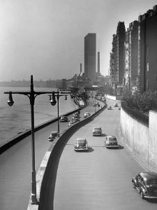 FDR Drive, East River and Bldgs., NYC by George Marks