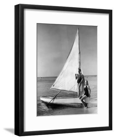 Man and Woman on Sail Boat