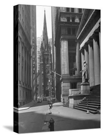 View Up Wall St. of Trinity Church