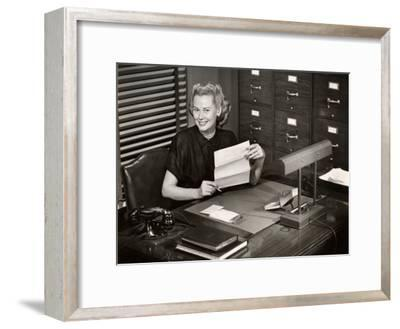 Woman Executive at Her Desk