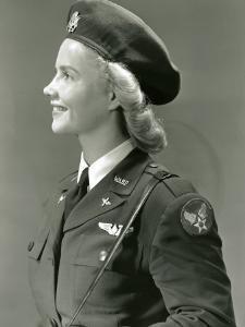 Woman in World War Ii Military Uniform by George Marks