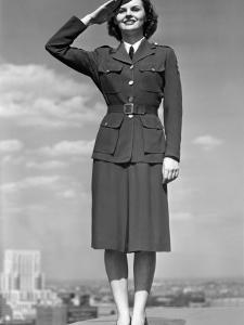 Woman Saluting by George Marks