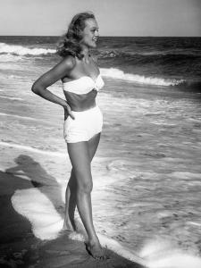 Woman Standing in the Surf by George Marks