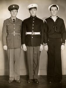 Ww Ii Us Army, Marine and Navy Men in Uniform by George Marks