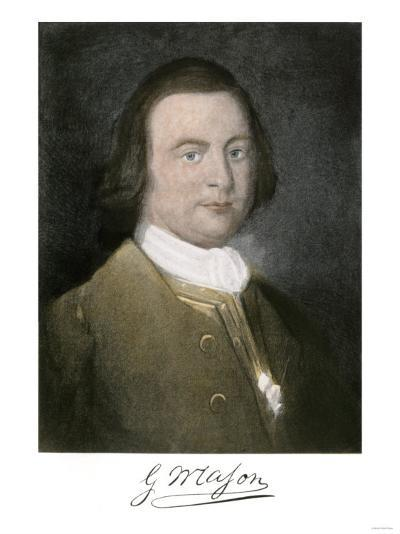George Mason of Virginia, with His Signature--Giclee Print