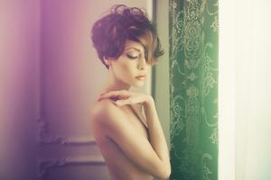 Fashion Art Photo of Young Sensual Lady in Classical Interior by George Mayer