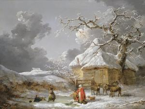 A Fall on the Ice by George Morland