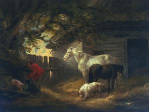 A Farmyard, 1792 by George Morland