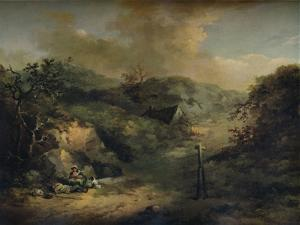 A Hillside with Tramps reposing, c1793 by George Morland