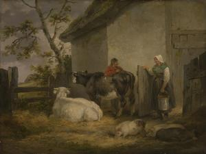 Cowherd and Milkmaid by George Morland