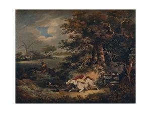 Full Cry - And A Fall', c1790, (1922) by George Morland