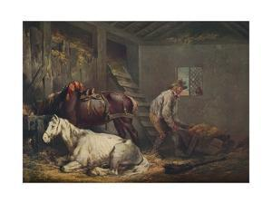 'Horses in a Stable', 1791 by George Morland