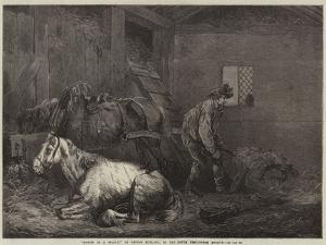 Horses in a Stable by George Morland