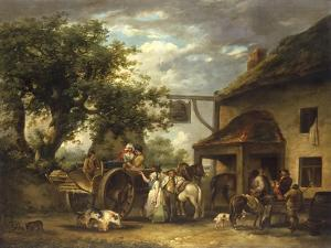 In Front of the Bell Inn, 1793 by George Morland