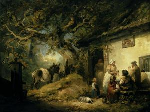 Outside the Dolphin Inn, 1792 by George Morland