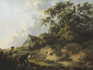 Rabbiting by George Morland