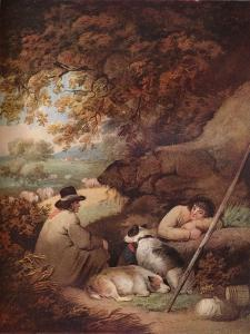 Shepherds Reposing, c18th century, (1919) by George Morland