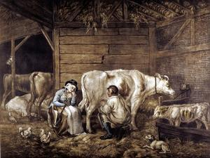 The Cowshed by George Morland