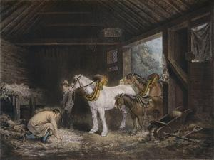 The Farmers Stable, (1791) 1901 by George Morland