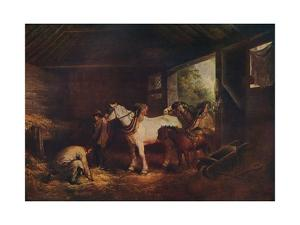 'The Inside of a Stable', 1791, (c1915) by George Morland