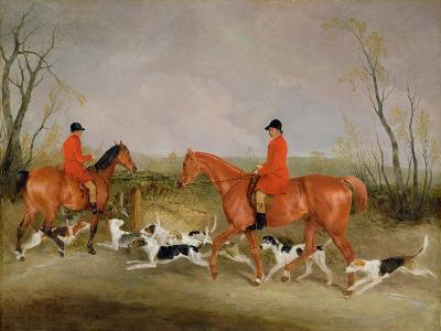 George Mountford, Huntsman to the Quorn, and W. Derry, Whipper-In, at John O'Gaunt's Gorse, Nr…-Richard Barrett Davis-Giclee Print