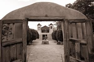 Adobe Church Of Chimayo, New Mexico by George Oze