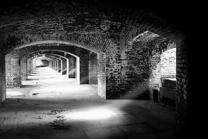 Archways And Light Beams, Fort Jefferson, FL by George Oze