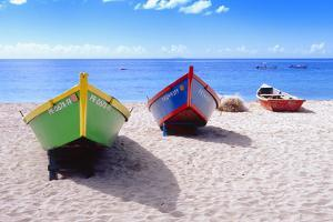 Boats Stored on a Caribbean Beach, Puerto Rico by George Oze