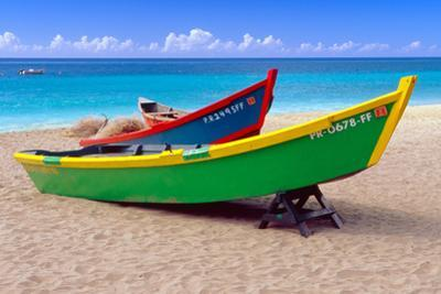 Brightly Painetd Boats, Puerto Rico