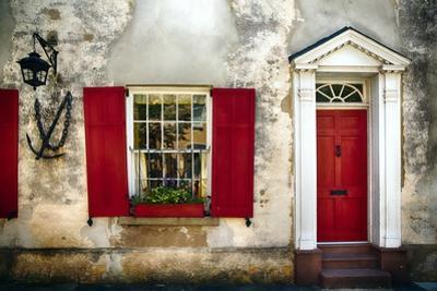 Charleston Red Door And Shutters by George Oze