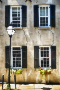 Charleston Windows And Lamp Post by George Oze