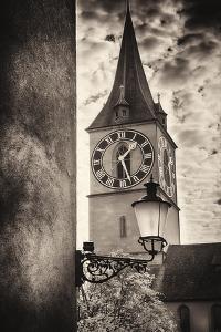 Clocktowwer of, St Peter Church, Zurich, Switzerland by George Oze