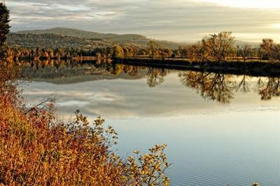Connecticut River Tranquil Autumn Scenic Vista by George Oze