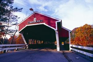 Covered Bridge Over The Ellis River Jackson NH by George Oze