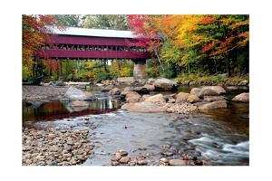 Covered Bridge over the Swift River, Conway, NH by George Oze