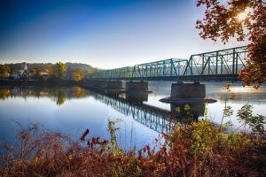 Delaware River Bridge by George Oze