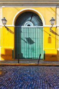 Door and Cobblestone, Old San Juan, Puerto Rico by George Oze