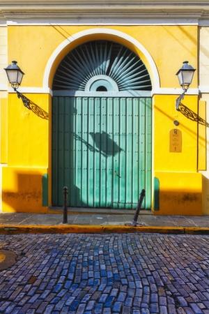 Door and Cobblestone, Old San Juan, Puerto Rico by George Oze