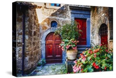 Doors And Flowers in Civita Di Bagnoregio