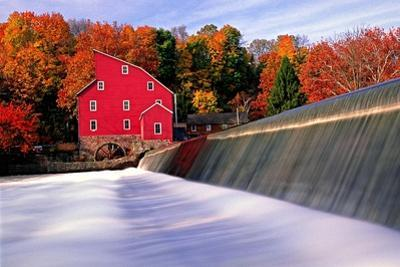 Historic Red Mill, Clinton, New Jersey by George Oze