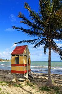 Lifeguard Hut on a Beach, Puerto Rico by George Oze