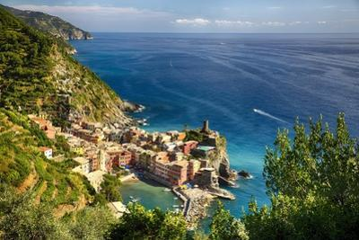 Ligurian Coast View At Vernazza, Italy by George Oze