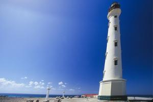 Low Angle View Of The California Lighthouse, Aruba by George Oze