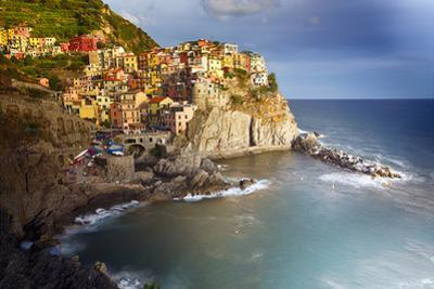 Manarola in After Storm Light, Cinque Terre, Italy by George Oze