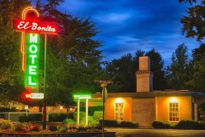 Napa Valley Motel Neon Sign by George Oze