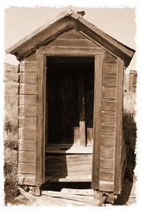 Old Outhouse, Bodie Ghost Town, California by George Oze