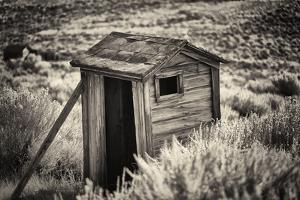 Old Outhouse in the Field by George Oze